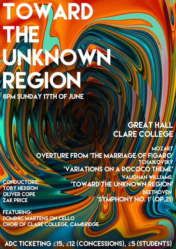 Toward the Unknown Region concert poster